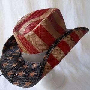 Peter Grimm Hat Costume American Flag True Western